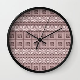Ornament cocoa color. Wall Clock