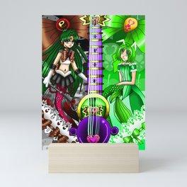 Sailor Mew Guitar #66 - Sailor Pluto & Mew Retasu Mini Art Print