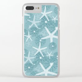 Larger Starfish & Sea Urchins Painting Clear iPhone Case