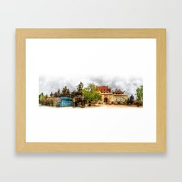 Chinese Temple Thailand Framed Art Print