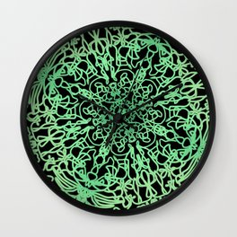 Green lace Wall Clock