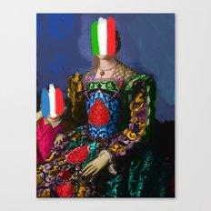 French Italian Pop Remix of Classical Painting of Bronzino Canvas Print