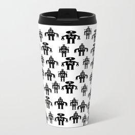 Three Robots by Bruce Gray Metal Travel Mug