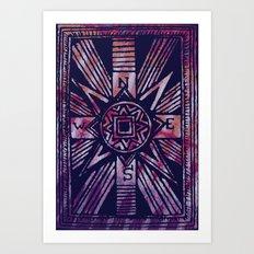 colored compass Art Print