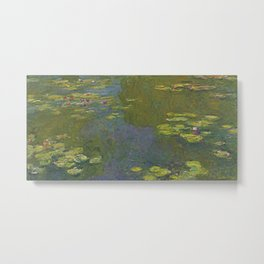 Claude Monet - Water Lily Pond 1919 Metal Print