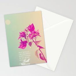Full Bloom - Rumi - Wisdom quote 3 Stationery Cards