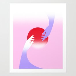 Abstract Pink Sunset Art Print