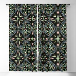Kaleidoscope pattern seamless Blackout Curtain