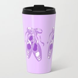 Lavender Ballet Shoes Printmaking Art Travel Mug