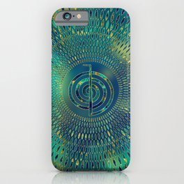 Reiki Cho Ku Rei - gemstone and gold iPhone Case