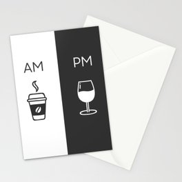 Am Pm - Kitchen poster - Coffee & Wine Decor - Home decor - Wall art - Am Pm sign - Wine sign Stationery Cards