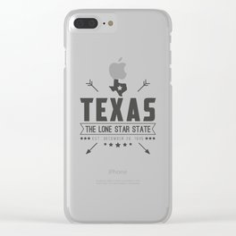 Texas State Badge Clear iPhone Case