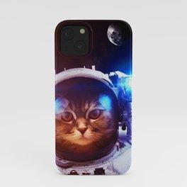 Funny Cat Astronaut #1 iPhone Case