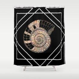 Classy Shell Spiral Shower Curtain