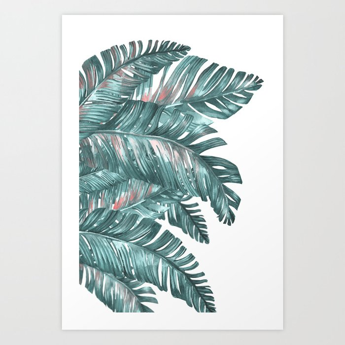 tropical blue Art Print