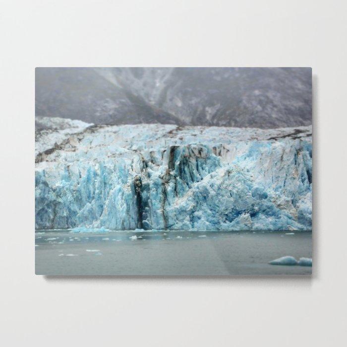 Glacier in Focus Metal Print