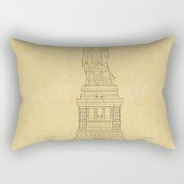 Statue Of Liberty Blueprint 2 Rectangular Pillow