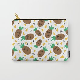 Hand Drawn Summer Pineapple Pattern Carry-All Pouch