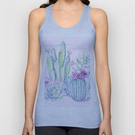 Mixed Cacti Pink #society6 #buyart Unisex Tank Top