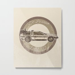 Marty McFly's Ride Metal Print