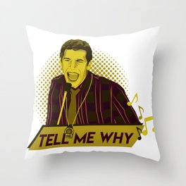 Tell me why - Jake Peralta Throw Pillow