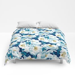 Mount Cook Lily (Night) Comforters