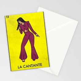 La Cantante The Performer Mexican Loteria Bingo Card Stationery Cards