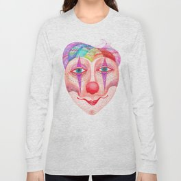 trust the clown mask portrait Long Sleeve T-shirt