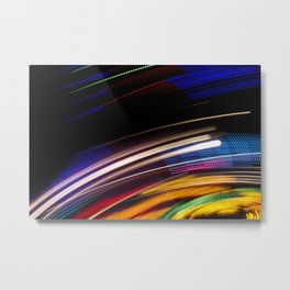 Traces of colored lights Metal Print