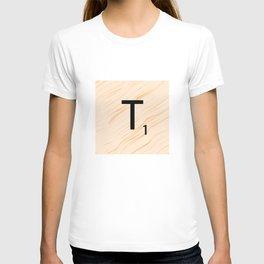 Scrabble Letter T - Large Scrabble Tiles T-shirt
