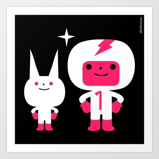 Cosmic companions : idokungfoo.com Art Print