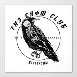 the crow club Canvas Print
