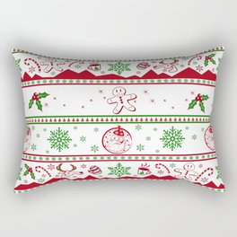 Santa babe red & green Rectangular Pillow