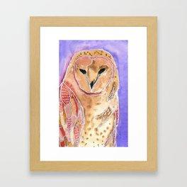 Beatrice the owl Framed Art Print