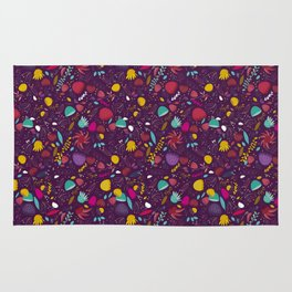 purple seeds Rug