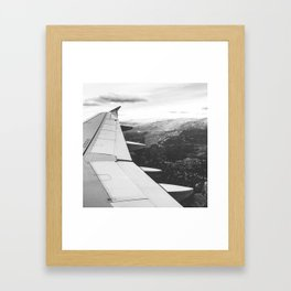 Mountain State // Colorado Rocky Mountains off the Wing of an Airplane Landscape Photo Framed Art Print