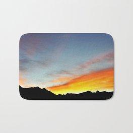 Southwest Desert Mountain Sunrise Bath Mat