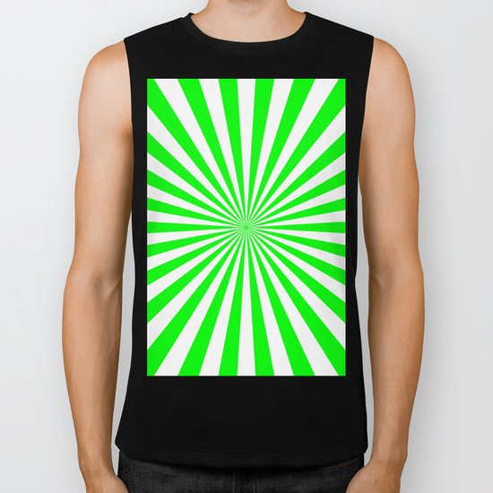 Starburst (Green/White) Biker Tank
