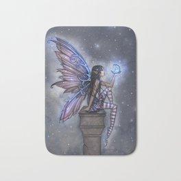 Little Blue Moon Fairy Art by Molly Harrison Bath Mat