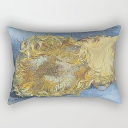 Two Sunflowers Rectangular Pillow