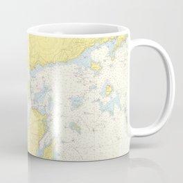 Vintage Map of North Shore Massachusetts (1957) Coffee Mug