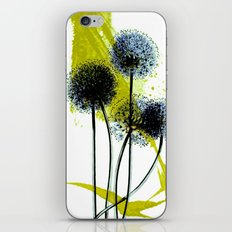 blue dandelion on abstract background iPhone & iPod Skin