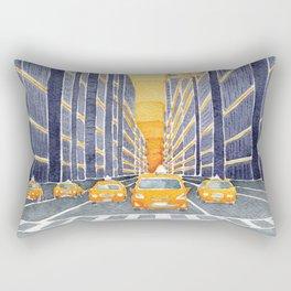 NYC, yellow cabs Rectangular Pillow
