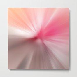 Peach Pink Blurr Abstract Design Metal Print