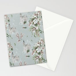 Castles and White Roses Stationery Cards