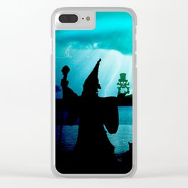 magician the witch creepy weird Clear iPhone Case