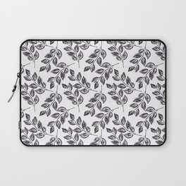 Black on white watercolor twigs. Laptop Sleeve