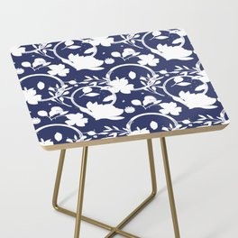 Blue And White Pattern No. 1 Side Table