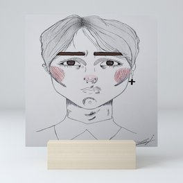 boys tears Mini Art Print