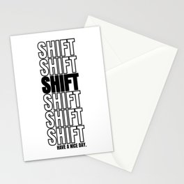 Shift Turn Tuning Car Motorcycle Gift Stationery Cards